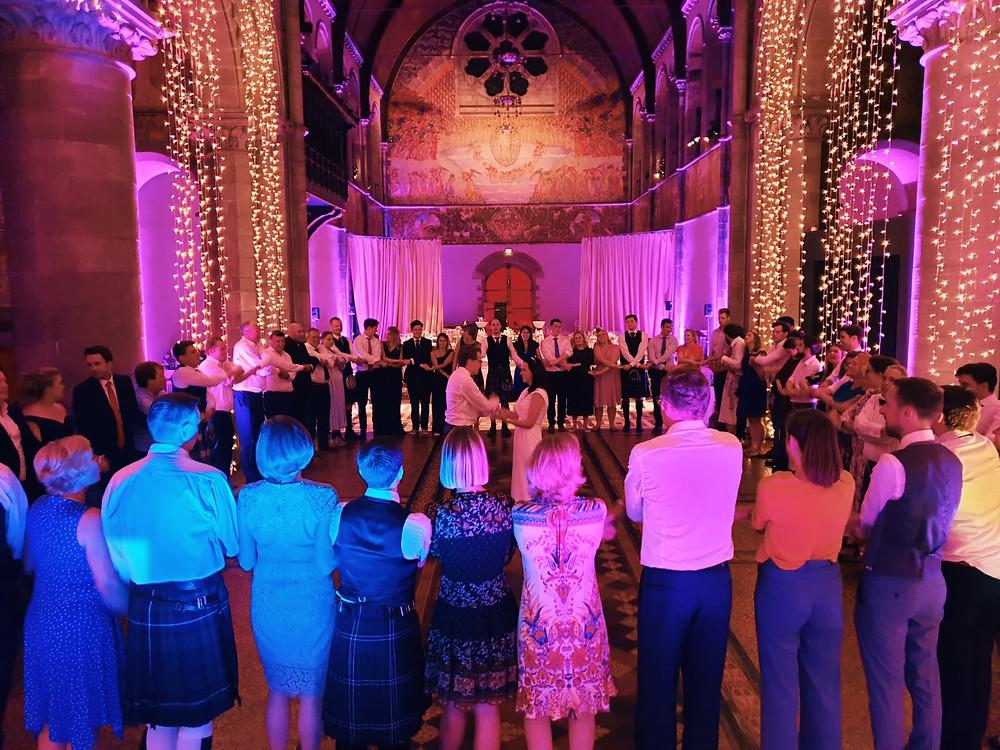 The end of Shona & Jens' wedding at Mansfield Traquair, Edinburgh
