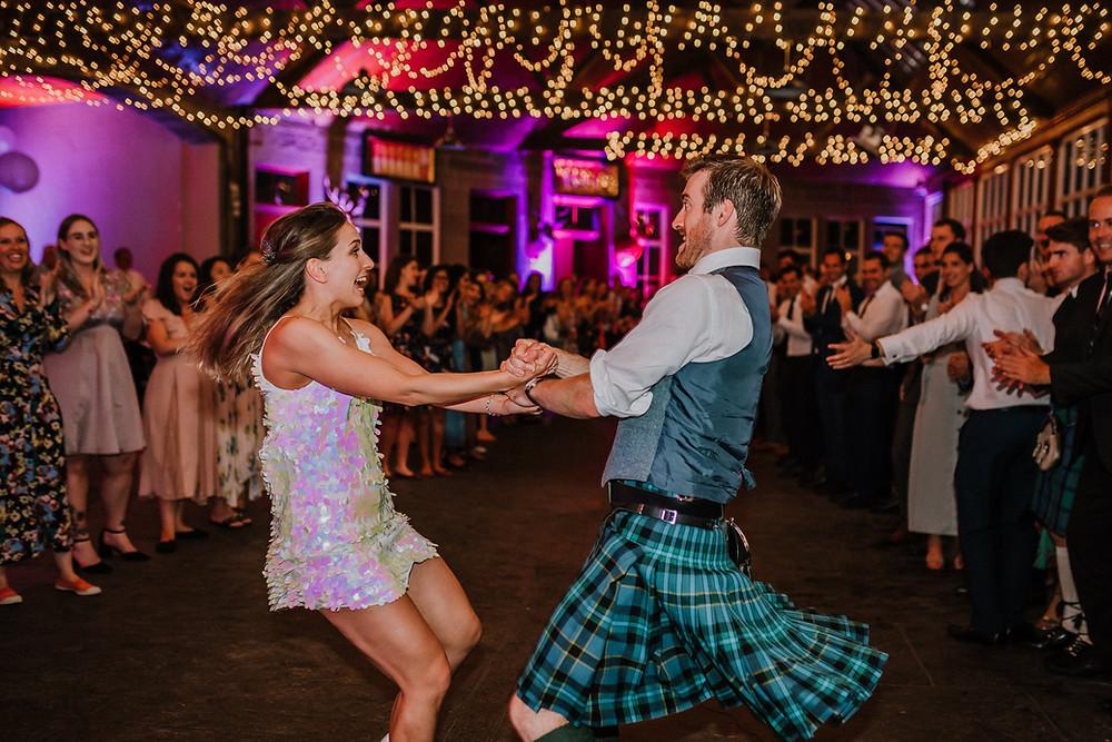Greg & Anna's first dance at Errol Park before the ceilidh got underway
