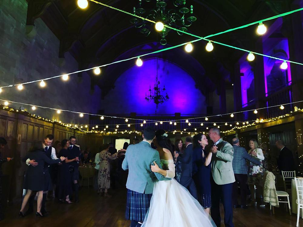 Mia & Robert's first dance at Achnagairn