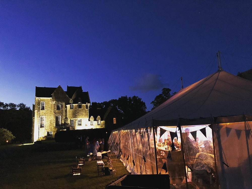Ardkinglas Estate with the marquee at night