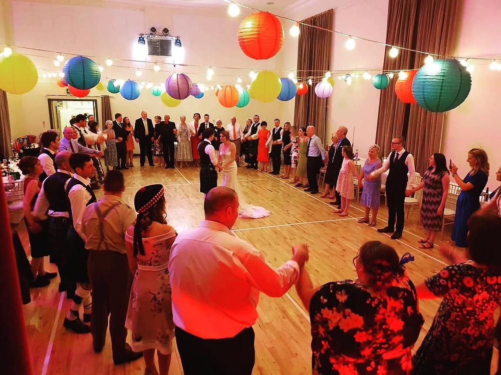 PJ & Robyn's wedding ceilidh at Killearn Village Hall
