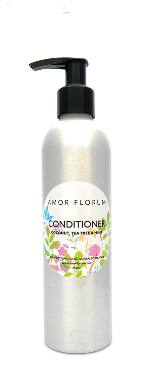 Natural HAIR CONDITIONER - With COCONUT, TEA TREE & MINT - 250ml