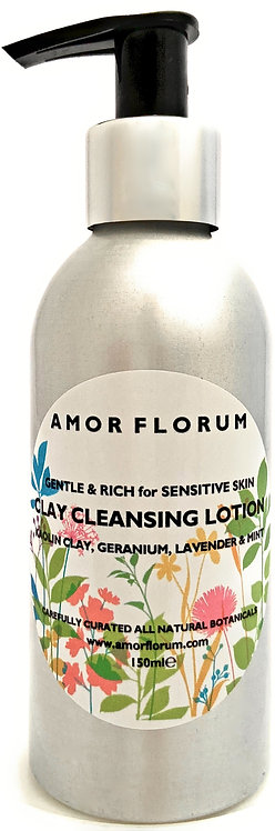 CLAY CLEANSING LOTION - KAOLIN, GERANIUM, LAVENDER & MINT- 150 ml