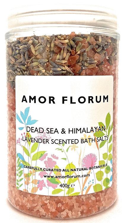 HIMALAYAN & DEAD SEA SALT for the BATH - LAVENDER - 400g
