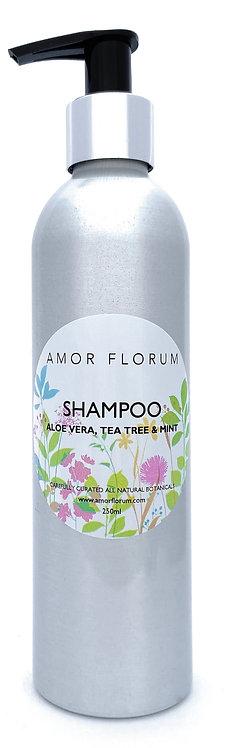 Natural SHAMPOO - With ALOE VERA, TEA TREE & MINT - 250ml