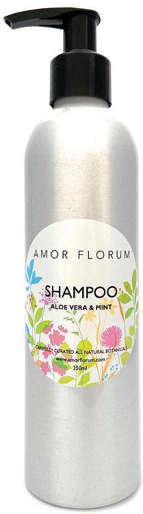 Natural SHAMPOO - With ALOE VERA & MINT- 250ml