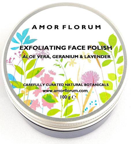 Gentle EXFOLIATING FACE Polish - Aloe Vera, Lavender & Geranium - 100g