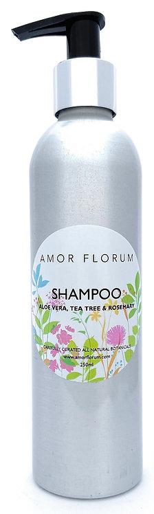 NATURAL SHAMPOO - With ALOE VERA, ROSEMARY & TEA TREE- 250ml