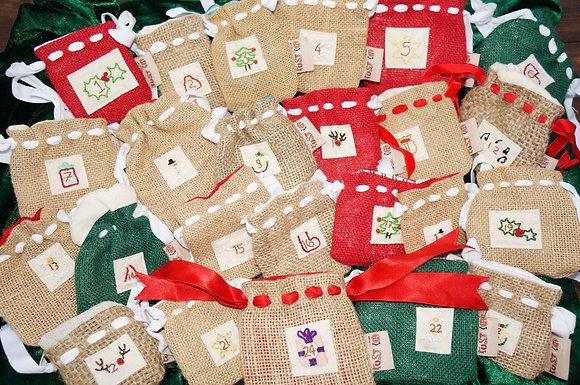 Advent Calendar Mini Bags - Set of 24