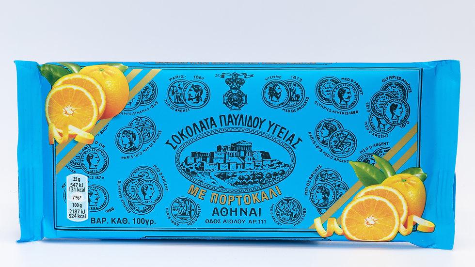 Dark Chocolate with Orange - Ygeias Pavlidis 100gr