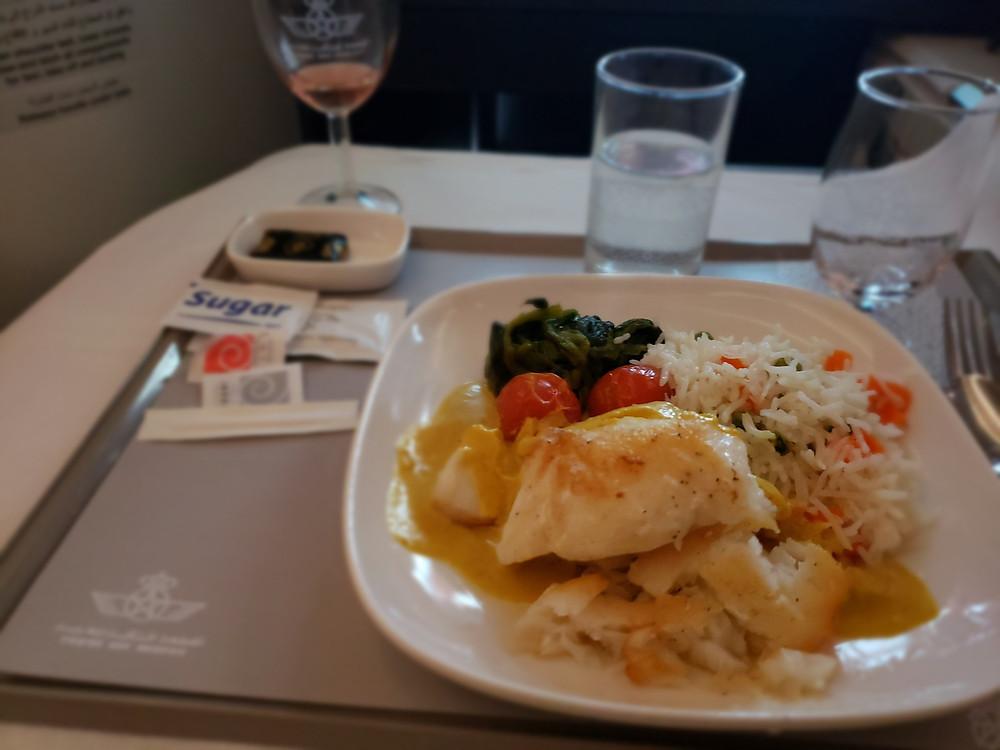 Royal Air Morac Dinner on Flight