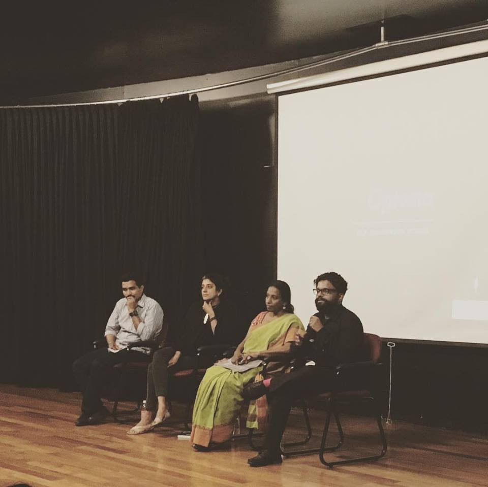 Shantesh from Reading Grounds as a panelist for the inaugural event of the exhibition.