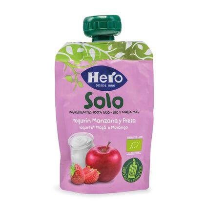 Saqueta Fruta SoloBio Iogurte Maça e Morango |100gr