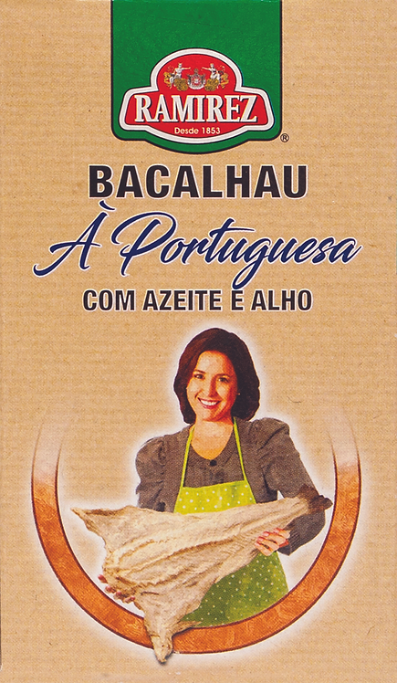 Bacalhau à Portuguesa C\ azeite e alho Ramirez  125gr
