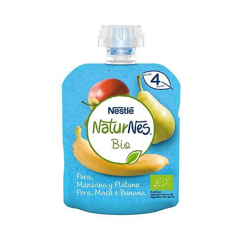 Saqueta Fruta NaturNes Bio Maça Pêra Banana |90gr