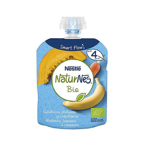 Saqueta Fruta NaturNes Bio Abobora Banana Cenoura  90gr