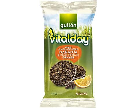 Bolachas arroz chocolate laranja vitalday |115gr