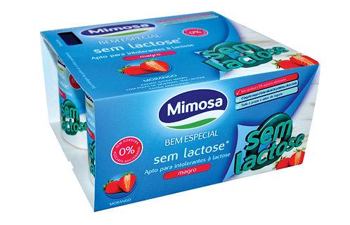 Iogurte sem lactose Morango Mimosa  4*120