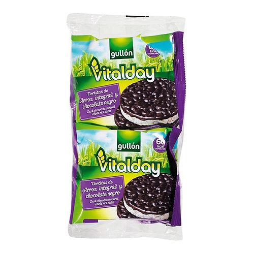 Bolachas arroz e chocolate negro vitalday |115gr