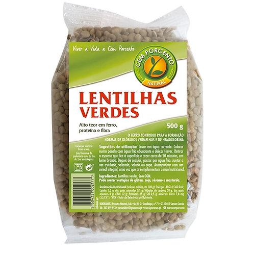 Lentilhas Verdes Cemporcento 500gr