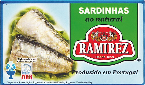 Sardinhas ao Natural Ramirez  120gr