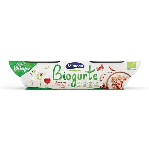 Iogurte Sólido Aveia e Maçã Bio Mimosa emb. 2 x 115 gr