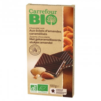 Chocolate Negro Puro C\amêndoas caramelizadas  100gr
