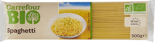 Massa Spaghetti Carrefour Bio  |0.5kg