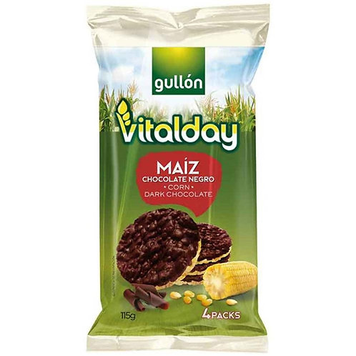 Bolachas milho chocolate negro vitalday |115gr