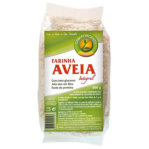 Farinha de Aveia Integral 100% |400gr