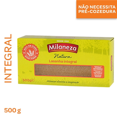 Massa Lasanha Integral Milaneza  500gr