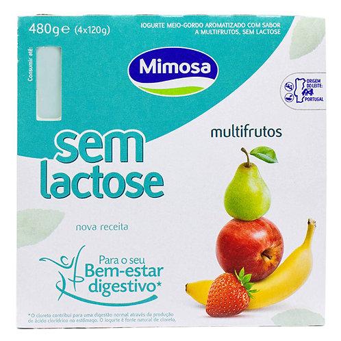 Iogurte sem lactose multifrutos Mimosa |4*120