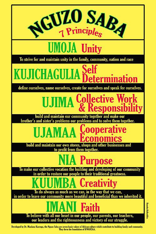 Nguzo Saba Poster (11 x 17)