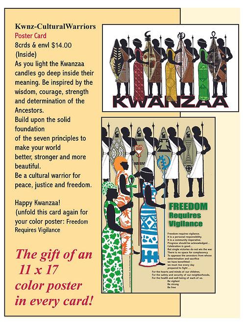8 Poster Cards - Cultural Warriors/Freedom Requires Vigilance
