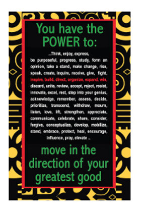 10 Cards -You have the POWER to: