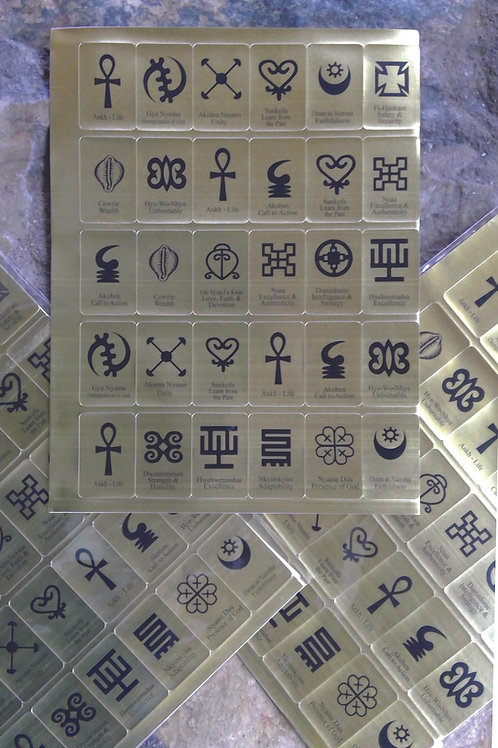 100 - African Symbol Stickers