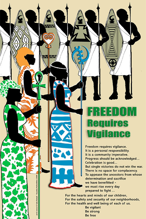 Freedom Requires Vigilance Poster (11 x 17)