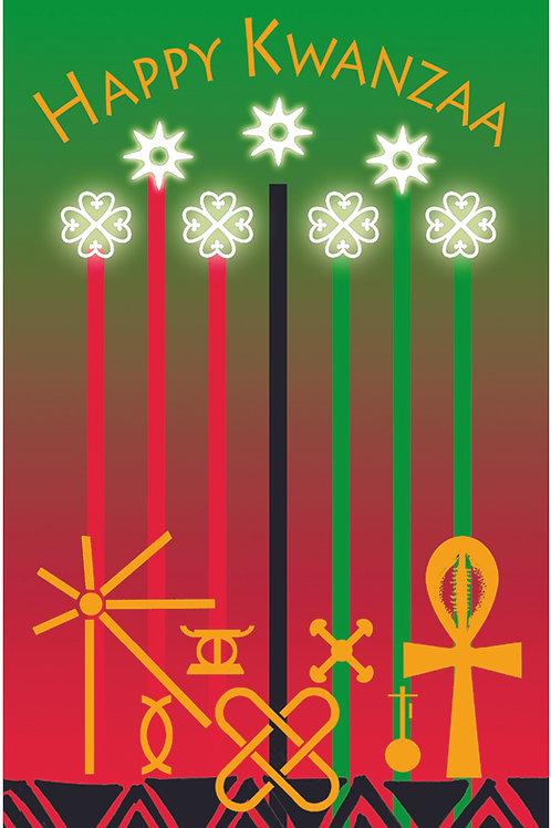 10 Cards - Kwanzaa Candles