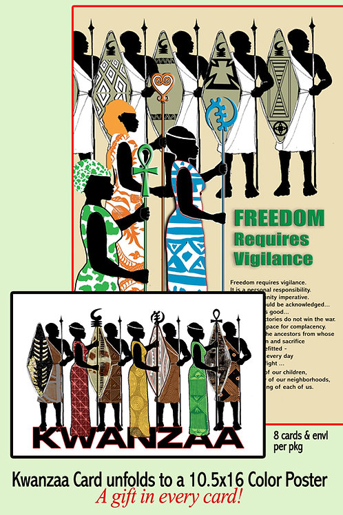 8 Poster Cards - Cultural Warriors/Freedom Requires Vigilance