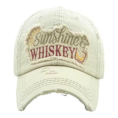 Sunshine and Whiskey Vintage Hat