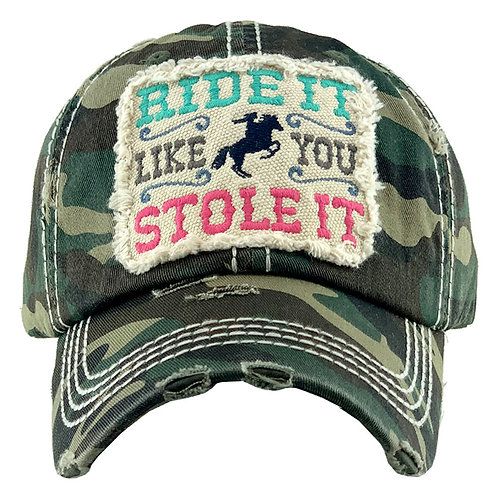 Ride It Camo Vintage Hat
