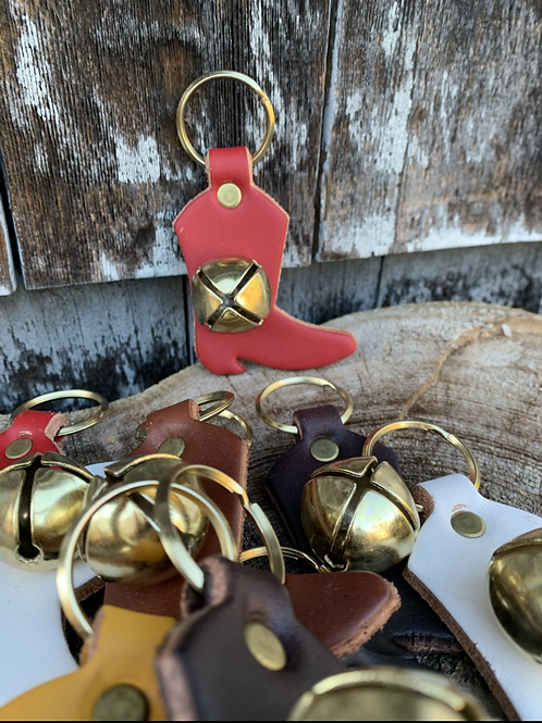 Jingle Bell Boot Keychain