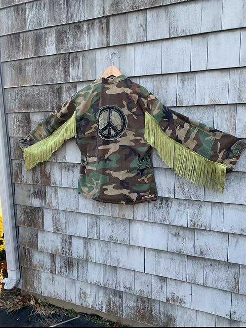 Fringy Peace Camo Jacket