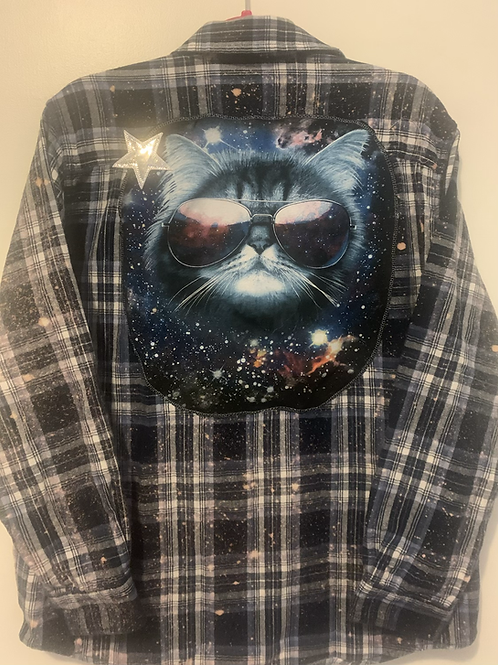 Cosmic Kitty Flannel