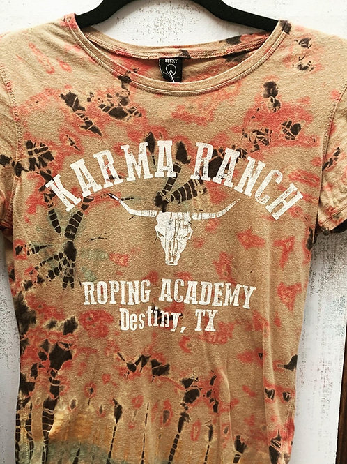 Tie Dye Karma Ranch Fitted T