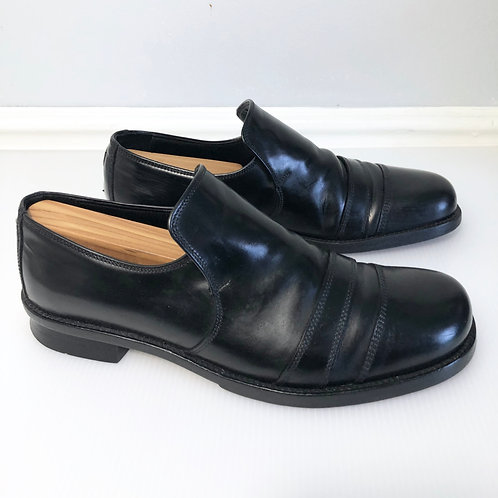 Gianni Versace Black Leather Loafers Men's Size 38.5