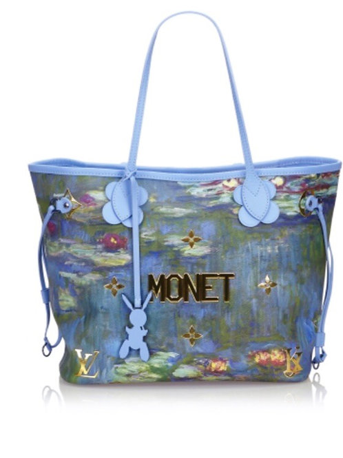 Louis Vuitton Monet Neverfull Tote Bag Jeff Koons Collaboration