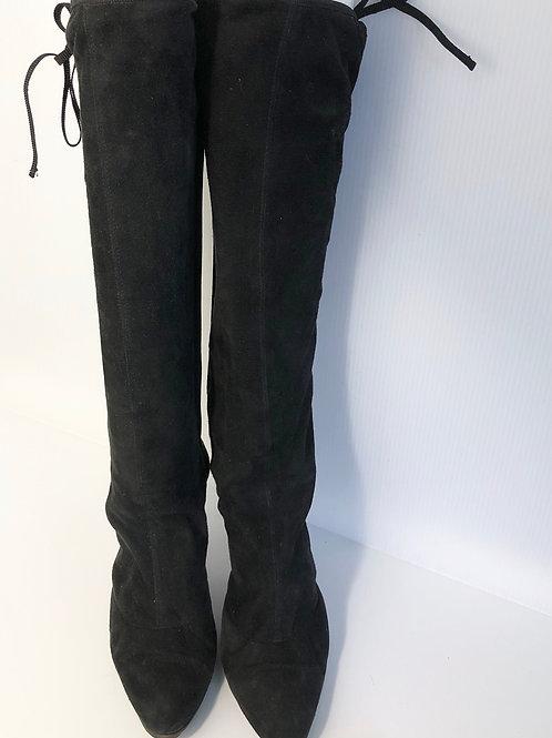 Ferragamo Women's Lace Up Suede Boots Size 7.5