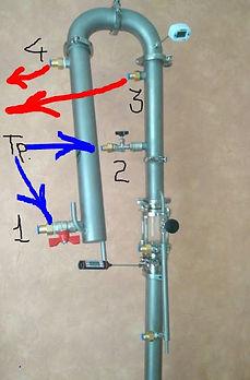 Бражная колонна | Ректификационная колонна | Подключение воды | Азбука Винокура