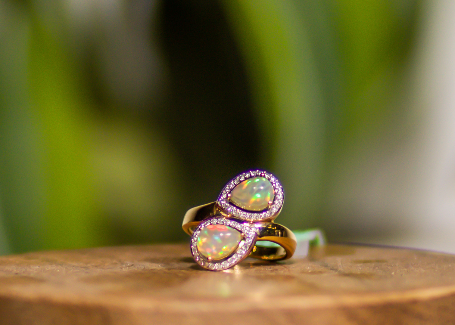 Bypass Style Opal Ring